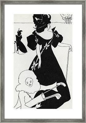 Pierrot As Caddie Framed Print