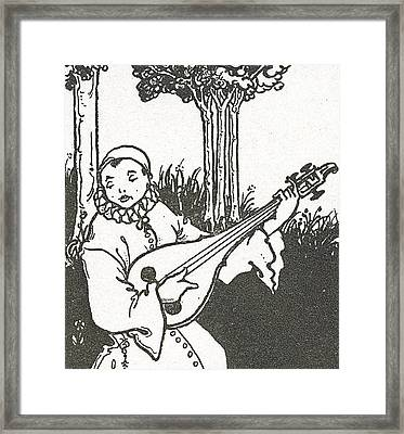 Pierrot Framed Print by Aubrey Beardsley