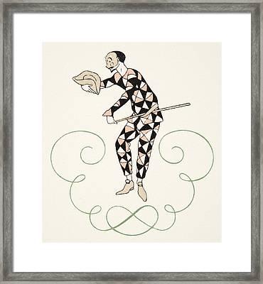 Pierrot Framed Print by Georges Barbier