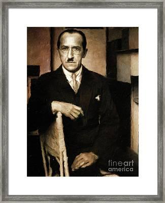 Piet Mondrian, Artist By Mary Bassett Framed Print