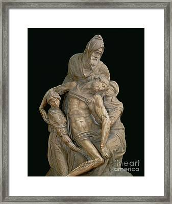 Pieta, 1553 Framed Print by Michelangelo
