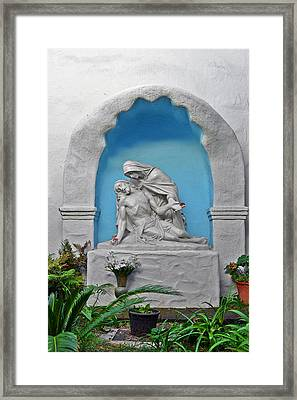 Framed Print featuring the photograph Pieta Garden Mission Diego De Alcala by Christine Till