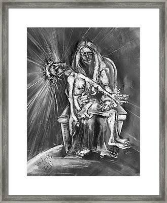 Pieta Framed Print by Kenneth Agnello