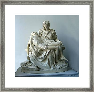 Pieta Framed Print by Suhas Tavkar