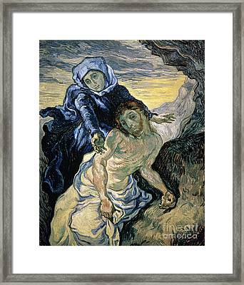Pieta Framed Print by Vincent van Gogh