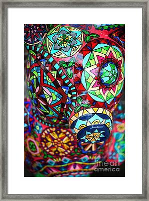 Pig And Wolf Abstract  Framed Print