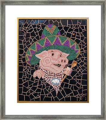 Pig In Sombrero Framed Print by Gila Rayberg