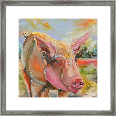 Pig Latin Framed Print by Kim Guthrie