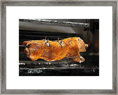 Pig Plus Barbecue Equals Mmmm Good Framed Print by Christine Till
