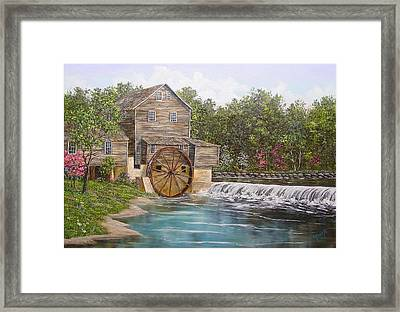 Pigeon Forge Mill Framed Print by Marveta Foutch