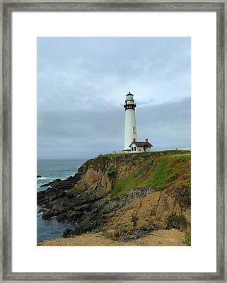 Pigeon Point Light Framed Print by Gordon Beck
