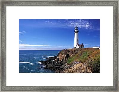 Pigeon Point Lighthouse 2 Framed Print by Kathy Yates