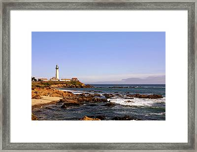 Pigeon Point Lighthouse Ca Framed Print by Christine Till
