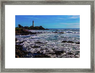 Pigeon Point Lighthouse Coastline Framed Print by Garry Gay