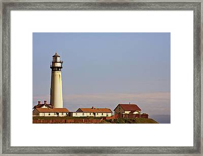Pigeon Point Lighthouse On California's Pacific Coast Framed Print by Christine Till
