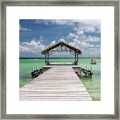 Pigeon Point, Tobago#pigeonpoint Framed Print by John Edwards