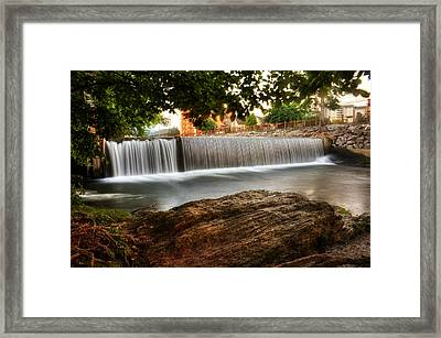 Pigeon River At Old Mill Framed Print