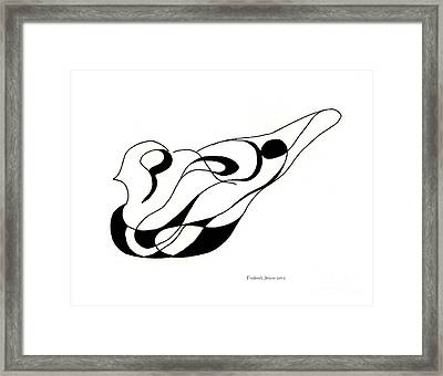 Pigeon Sculpture  Framed Print by Fred Jinkins