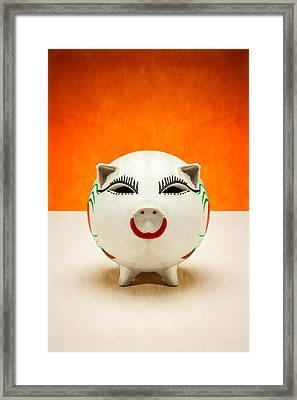 Piggy Bank Smile Framed Print by Yo Pedro