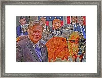 Piggy Farm Framed Print