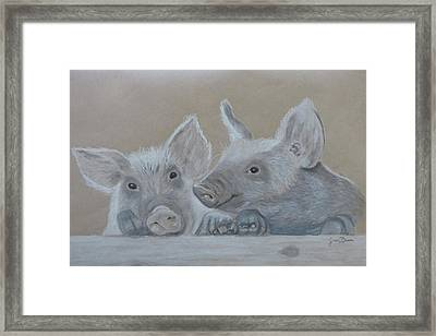 Piglet  Friends Framed Print by Zina Dean