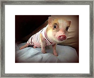 Piglet In Pjs Framed Print