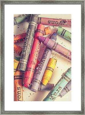 Pigment In Play Framed Print