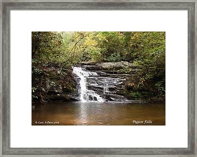 Pigpen Falls Oconee County Sc Framed Print by Lane Owen