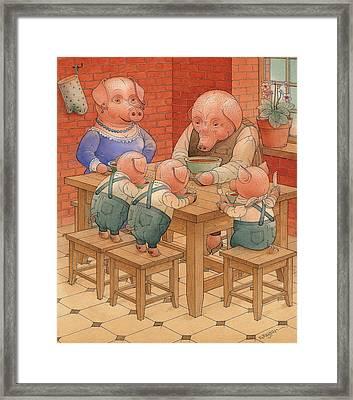 Pigs Framed Print by Kestutis Kasparavicius