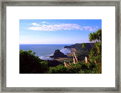 Piha Panorama Framed Print by Kevin Smith