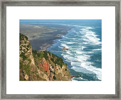 Piha Framed Print