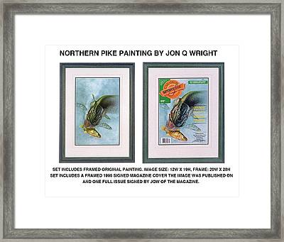 Pike And Perch Framed Print by Jon Q Wright