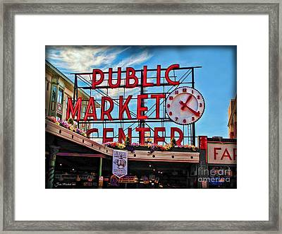 Pike Place Market Framed Print by Joan  Minchak
