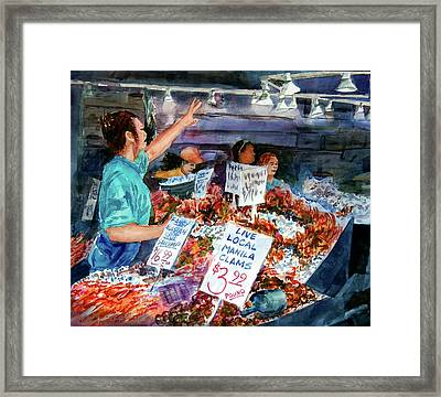 Pike Place Market Framed Print by Ron Stephens