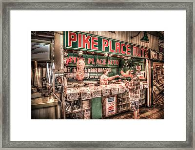 Pike Place Nuts Framed Print