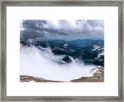 Framed Print featuring the photograph Pikes Peak by Anthony Baatz