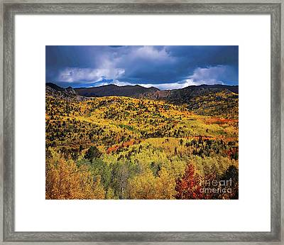 Pikes Peak Autumn Framed Print