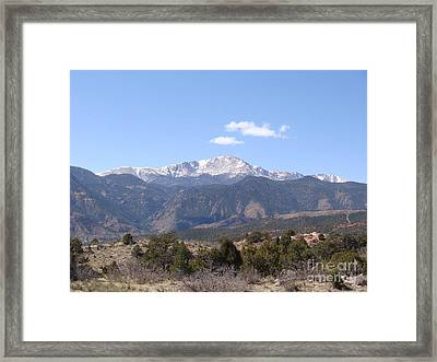 Pikes Peak Colorado One Framed Print