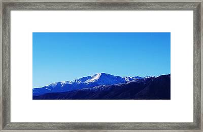 Framed Print featuring the photograph Pikes Peak by Joseph Frank Baraba