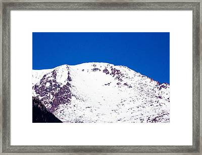 Pikes Peak On A Clear Day Framed Print by Dennis Wagner