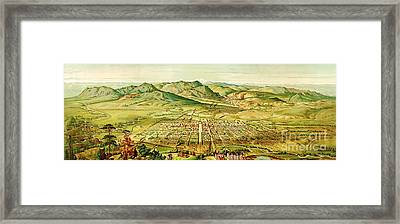 Pikes Peak Panorama Framed Print by Pg Reproductions