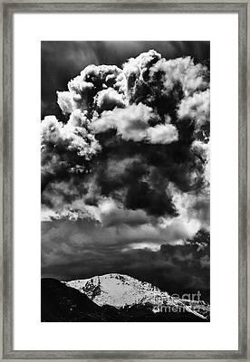Pikes Peak Storm Framed Print by Dennis Wagner