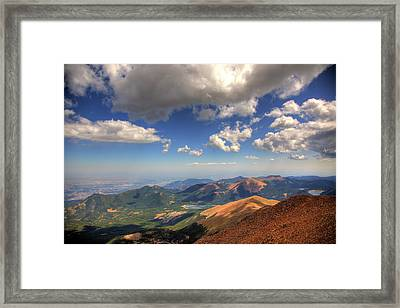 Pikes Peak Summit Framed Print