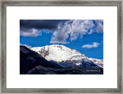 Pikes Peak View Framed Print by Dennis Wagner
