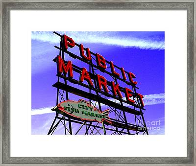 Pike's Place Market Framed Print by Nick Gustafson