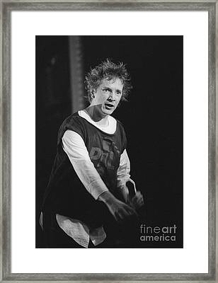 Pil Johnny Came On Stage Framed Print by Philippe Taka