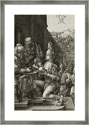 Pilate Washing His Hands Framed Print