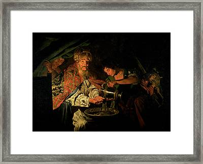 Pilate Washing His Hands Framed Print by Stomer Matthias