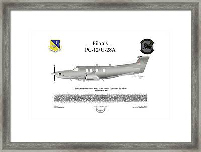 Pilatus Pc-12 U-28a Framed Print by Arthur Eggers