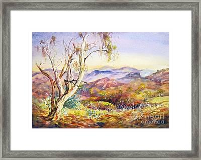 Pilbara, Hamersley Range, Western Australia. Framed Print